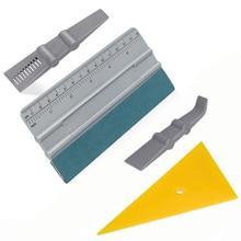 FOSHIO Car Wrap Tools Kit Carbon Fiber Big Scale Felt Squeegee Scraper Window Tinting Car Wrapping Vinyl Stickers Install Tool