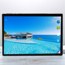 Pantalla de vidrio Android Tablet 10,1 pulgadas Android 7.1.1 10 diez Core 6GB RAM 256GB ROM 3G 4G LTE 1920 1200 IPS 5MP + 13.0MP la tableta(China)