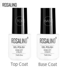 ROSALIND-Żelowy top i baza do malowania paznokci długotrwałe nabłyszczające i utwardzające lakiery UV do manicure zmywalne 7ml tanie tanio CN (pochodzenie) Żel do paznokci Żel polski Nail primer Resin 1pcs LED or UV Lamp SGS MSDS