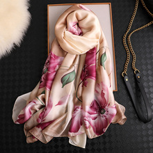 KOI LEAPING new summer woman fashion scarves lotus flowers printing long