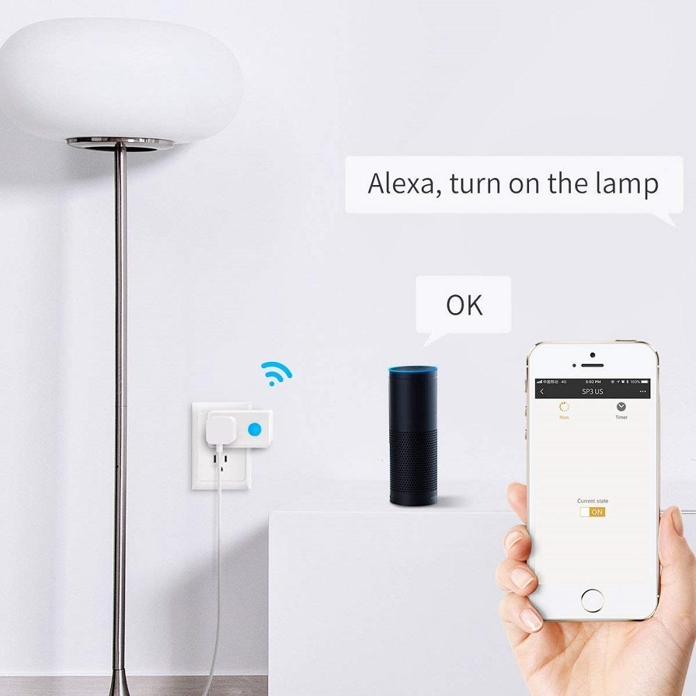 Wi-Fi Smart Timer Plug Mini,BroadLink Wireless Socket Outlet with Night Light, No Hub Required, Compatible with Alexa and Google