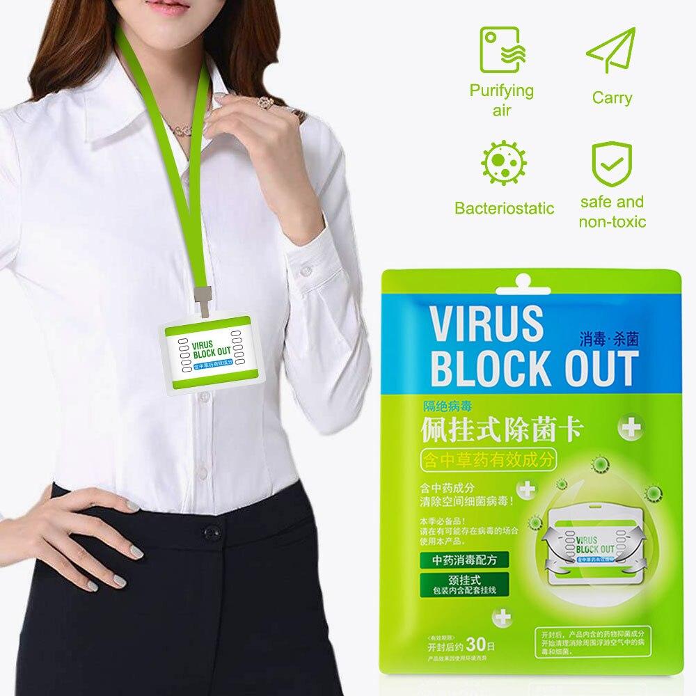 Air Freshener Sterilization Card Disinfection Lanyard Protection Card Anti Virus Antibacterial Card Home Clean Outdoor Anti Tool