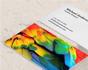 Image 5 - 300gsm Gecoat Papier Twee Side Afdrukken Gratis Ontwerp, Prachtige Visitekaartjes Afdrukken Hoge Kwaliteit Naam CardNO.1004