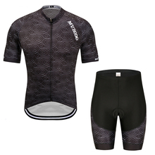 2019 men Black Quick-Dry Team Cycling Jersey Set MTB Road Bicycle cycling Clothing Breathable Mountain Bike Clothes Cycling Set quick dry cycling jersey sets breathable sponge pad anti sweat mtb dh road mountain bicycle bike men cycling sets