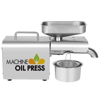 Prensa de aceite de acero inoxidable LBT01 máquina de prensado de aceite en caliente frío 110/220v Extractor de aceite de linaza cacahuetes, semillas de girasol ACEITE DE ALMENDRAS