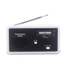 RD626 FM AM двухдиапазонный цифровой радио банк питания 1000 мАч перезаряжаемый аккумулятор Солнечный ручной аварийный светодиодный фонарик Сирена Micr