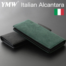 YMW ALCANTARA Wallet Women & Man Long Fold Phone Card Holder Bag Luxury Artificial Leather Genuine Leather Cards Package
