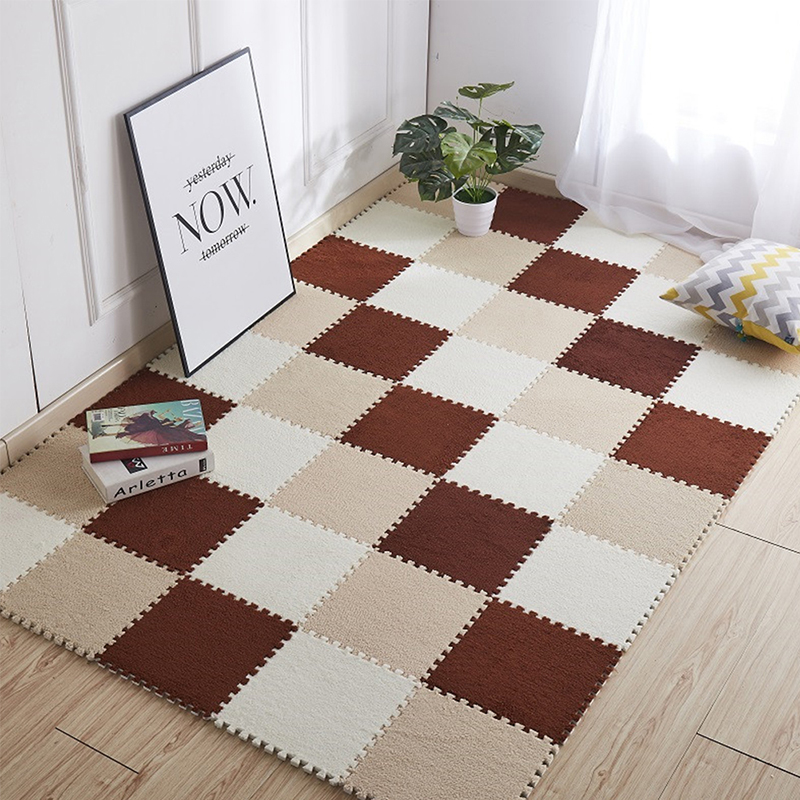 Household Polyester Carpet Home Decor Cute Soft Square Colorful Durable Modern Practical Easy Clean Carpet N