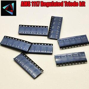 Комплект регулятора напряжения AMS1117, 60 шт., 1,2 В/1,5 В/1,8 В/2,5 В/3,3 В/5,0 В/1117, 6 значений по 10 шт.