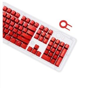 Image 4 - Overgild Keycap Set für Cherry MX Mechanische Tastatur 104 Schlüssel Doppel Schuss Injection Metall Farbe Tastenkappen mit Schlüssel Entfernung werkzeug