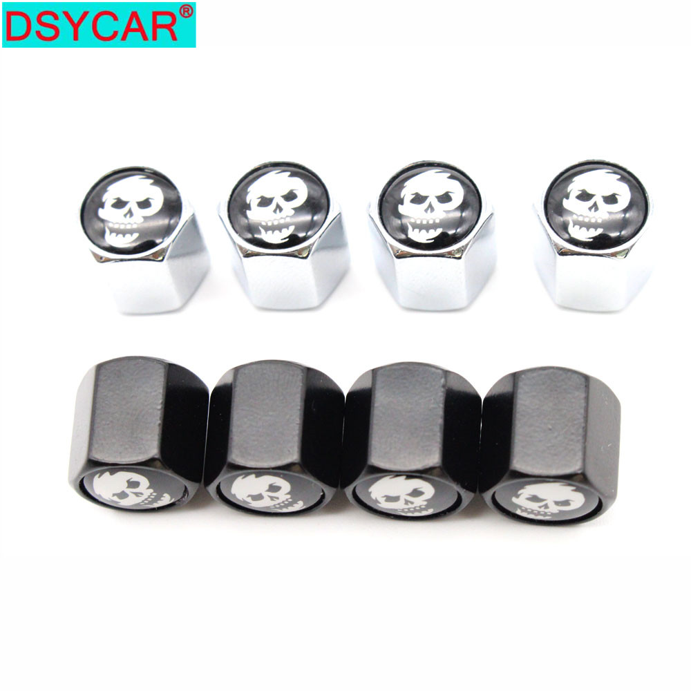 8pcs Plating Metal Slotted Head Valve Stem Caps Removing Tool Motorcycle Auto Car Tire Wheel