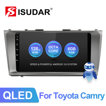 ISUDAR V72 QLED Android 10 For Toyota Camry 7 XV 40 2006-2011 GPS Car Multimedia Radio 8 Core ROM 128G DVR Camera wifi 4G image