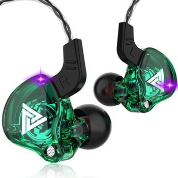 QKZ Copper Driver HiFi Sport Professional Earphone In Ear Earphone For Running With Microphone Earphone Music Earbuds AK6 CK6 1