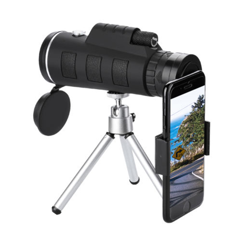 Portable 40X60 Super High Power Vision Monocular Telescope Waterproof Hunting HD Dual Focus Scope Monocular +Tripod+ Clip+Compas