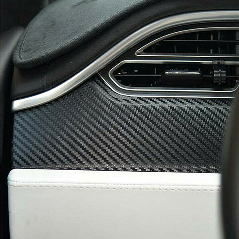 Carbon Fiber Car Interior Sticker Set Moulding Trim For Tesla Model X S 4pcs/set Kits Dashboard Central