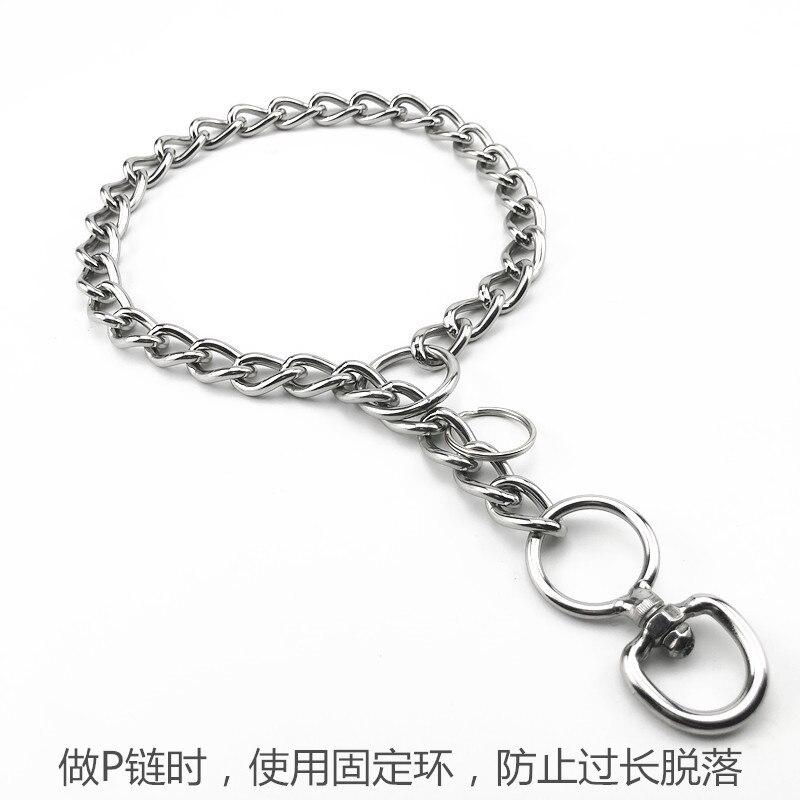 Stainless Steel P Pendant Dog Hand Holding Rope Neck Ring Horse Dog Golden Retriever Rottweiler Dog Pendant Large Medium-sized D