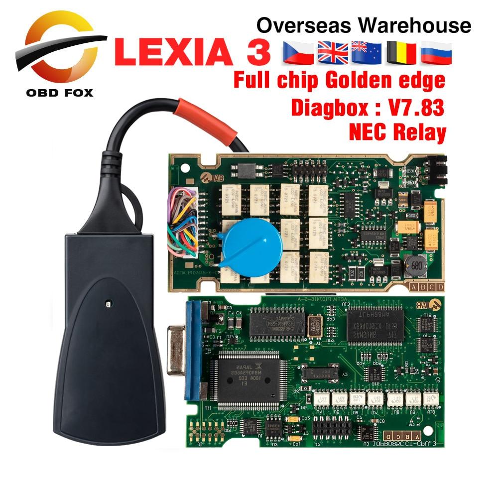Lexia 3 Full Chip Lexia3 V48 V25 Newest Diagbox V7 83 PP2000 Lexia-3 Firmware 921815C for Peugeot for Citroen Diagnostic Tool