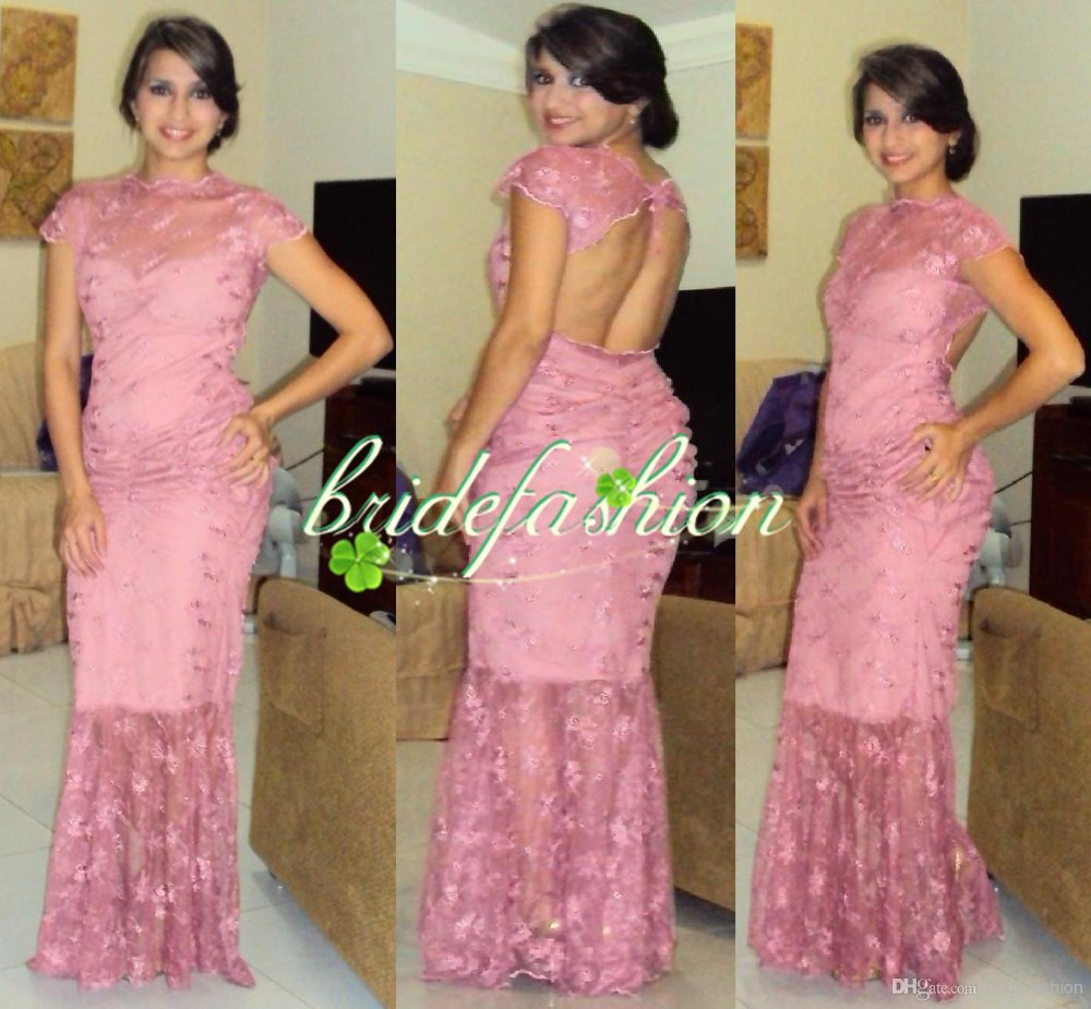 Free Shipping New Fashion 2018 Colorful Pink Vestidos Sexy Long Lace Prom Party Gown Vestido De Noiva Bridesmaid Dresses