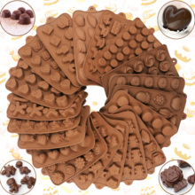 New Silicone Chocolate Molds 29 Shapes cake Baking Tools Non-stick Cake Jelly&Candy 3D shape DIY Hot Sale