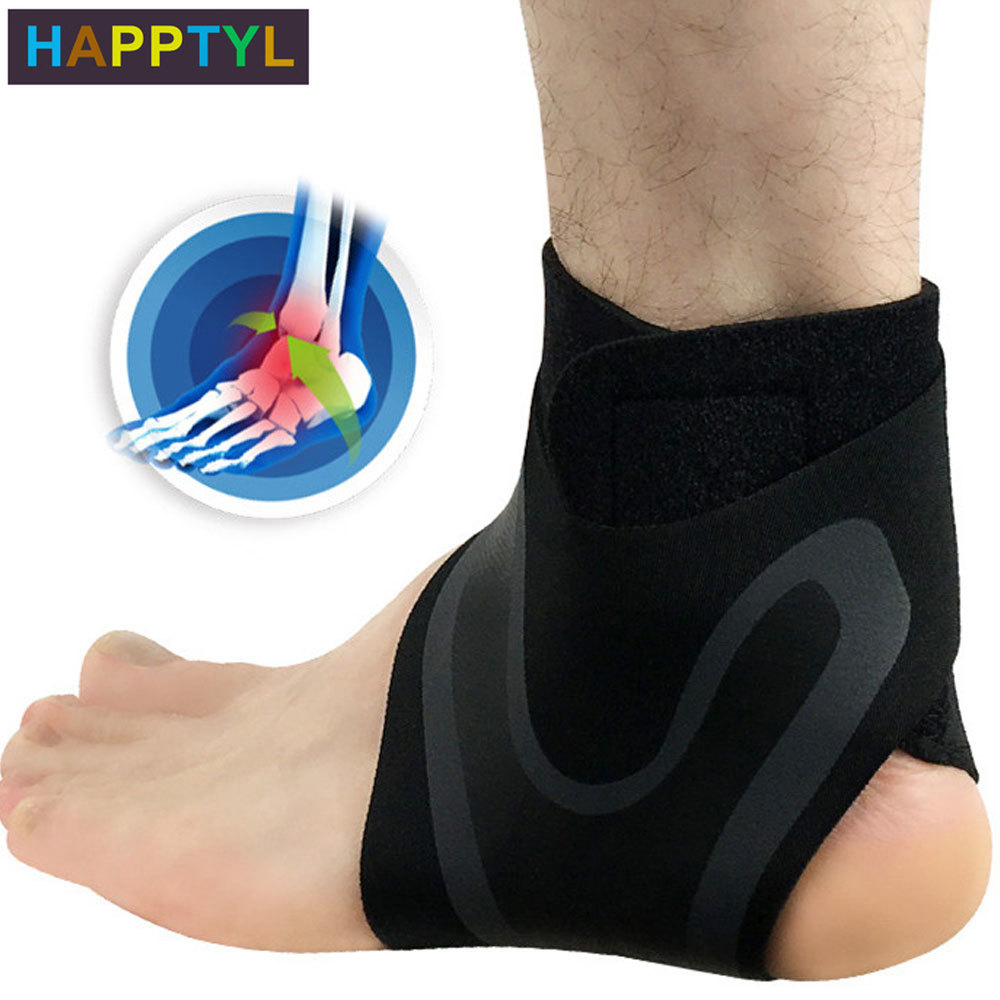 HAPPTYL Ankle Brace Compression Support Stabilizer - Adjustable Prevent Sprains Injuries Breathable Neoprene For Football Soccer