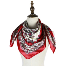 square silk scarf for women luxury bufanda mujer tippet soft shawl head neck accessories femme hijab shawls