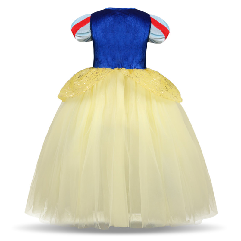 Hf46751c603aa44e98bfad665a9e70ae6D 2019 Children Girl Snow White Dress for Girls Prom Princess Dress Kids Baby Gifts Intant Party Clothes Fancy Teenager Clothing