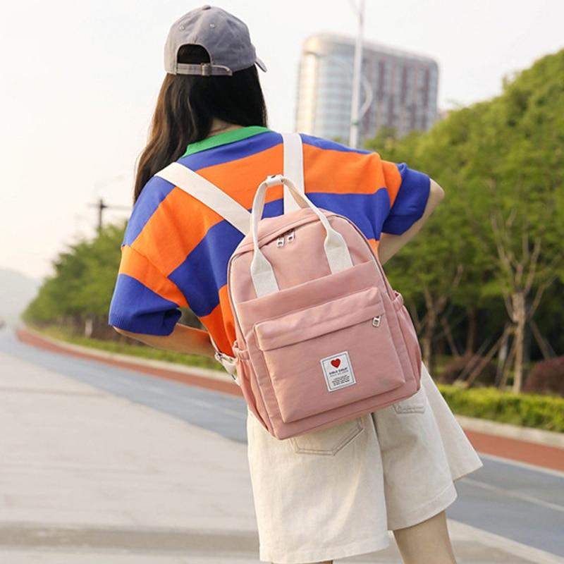 Lovely Ins Soft Backpack Female Student School Bag Korean Style Japanese Harajuku Backpack Small Fresh Ulzzang Pink Backpack