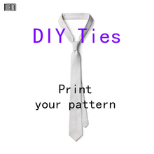 3D Printing Custom Tie Fashion Personality Logo Character Custom Neckties For Men Women 8cm Wide Polyester Shirt Accessories