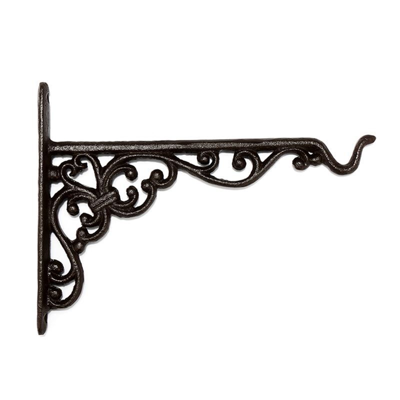 Cast Iron Hanger Wrought Iron Garden Hook Flower Pots Basket Wall Hanger Bracket With Expansion Screw|Hooks & Rails| |  - title=