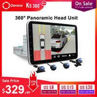 Ownice K5 Drehbare 1 din 2din 10,1 Auto radio Universal dvd player GPS navi DSP 360 Panorama SPDIF verstärker Optische flugbahn