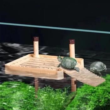 Żółw suszący platforma brazylijski żółw wodny pływający wyspa żółw zbiornik akwarium pływające suszenie platforma leżąca platforma tanie i dobre opinie CN (pochodzenie) Drewna Plastic fish