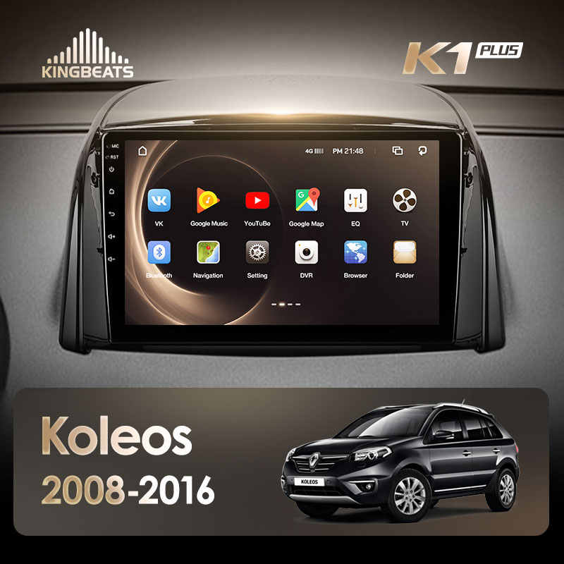 KingBeats Android 8.1 Octa-Core head unit 4G in Dash Car Radio Multimedia Video Player Navigation GPS For Renault Koleos 2008 -