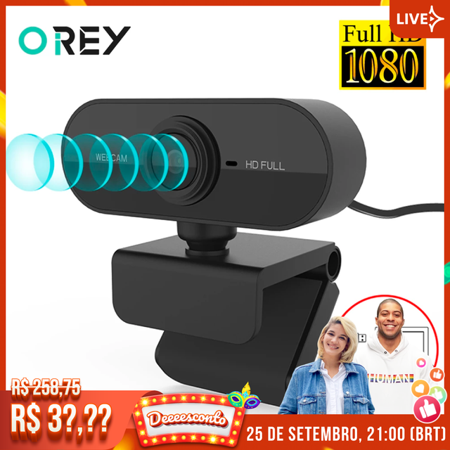 Webcam 1080P Full HD Web Camera With Microphone USB Plug Web Cam For PC Computer Mac Laptop Desktop YouTube Skype Mini Camera 1