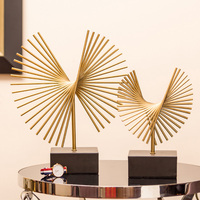 Nordic Light Abstract Geometric Statue Metal Sculpture Modern Art Postmodern Home Decoration Accessories Gift Table