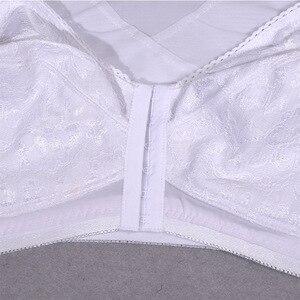 Image 5 - Front hook Closure Womens Lace Bra Sexy Bralette Bra Minimizer Large Plus Size brassiere A B C D E F Cup