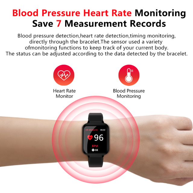 B57 relógios inteligentes à prova dwaterproof água esportes para iphone telefone smartwatch monitor de freqüência cardíaca funções de pressão arterial para mulher masculino garoto 2