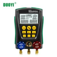DUOYI DY517 Pressure Refrigeration Manifold Digital HVAC Meter Pressure GuageTemperature Tester R410A Refrigerant Testo