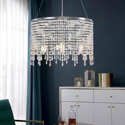 New Modern LED Chrome Chandelier Lighting for Living room Kitchen Tassel Crystal Chandeliers Bedroom Wires Hanging Lamp Home