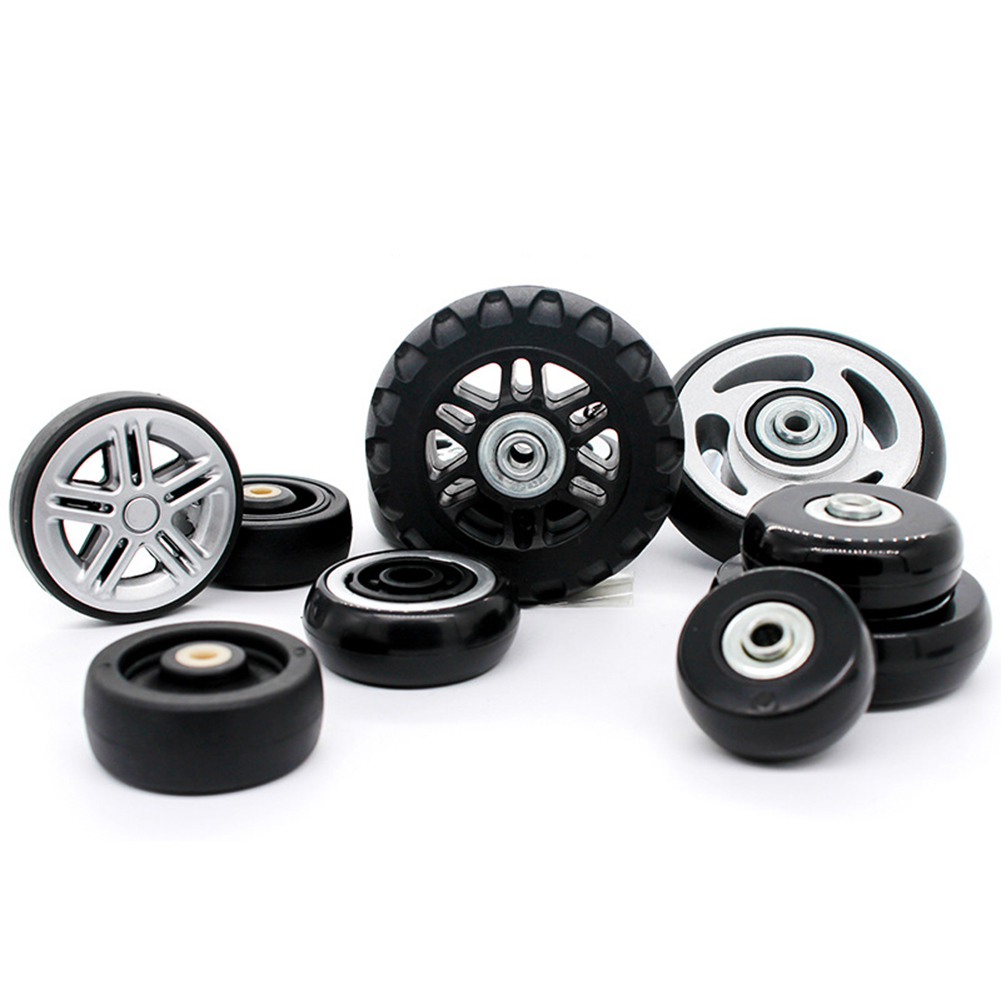 2Pcs Suitcase Wheels Luggage Suitcase Replacement Wheel Axles Casters Black Different Pattern Wheel Suitcase Parts Accessories