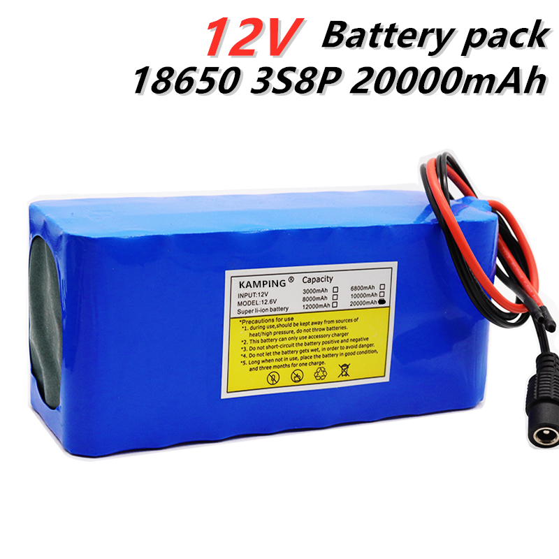 18650 <font><b>Battery</b></font> <font><b>pack</b></font> High Quality Super Rechargeable Portable Lithium-ion <font><b>Battery</b></font> <font><b>DC</b></font> <font><b>12V</b></font> 20000mAh 12.6v 20Ah <font><b>battery</b></font> <font><b>pack</b></font> image