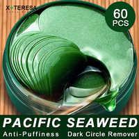 Anti-Puffines Eye Patches Natural Seaweed Essence Collagen Eye Mask Anti Wrinkle Whitening Green Eye Mask 60pcs Korean Cosmetics