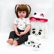 2019 Hot Panda Cloth For Realistic Reborn Silicone Toddler Baby Girl Dolls 24″ American Girl Doll Clothes Baby Doll Accessories