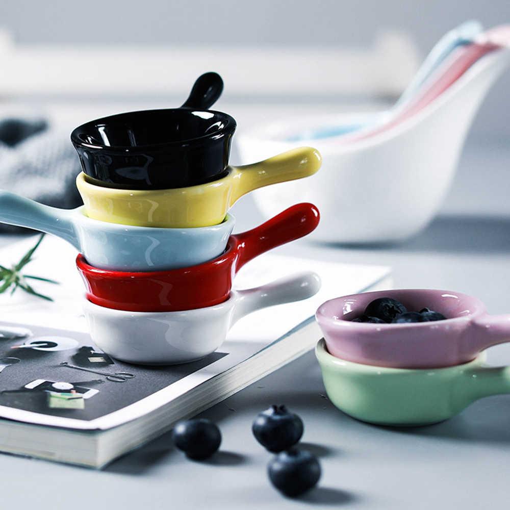1pc 슈퍼 귀여운 고양이 세라믹 소스 접시 미니 트레이 작은 접시 사이드 조미료 요리 조미료 요리 초밥 간장 스낵 디핑 그릇