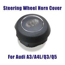 For Audi A3/A4/A5/S3/Q3/Q5/Q7 Car Steering Wheel Horn Button Cover Auto Accessories Professional Spare Parts ABS Plastic