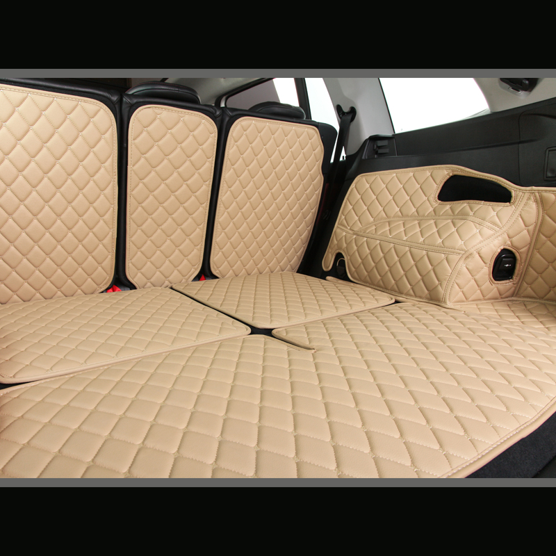 Custom leather Car Trunk Mats For Peugeot 206 207 2008 307 308sw 3008 408 4008 508 rcz car styling carpet floor liner