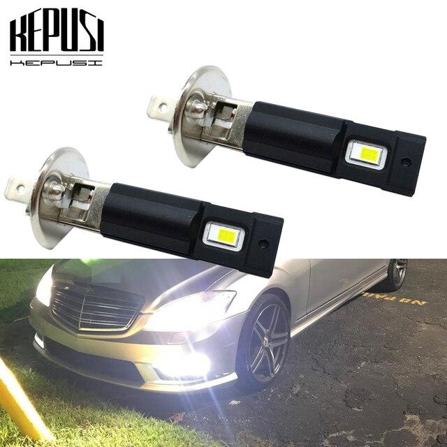 Projecteur de voiture Super brillant 12V 24V, ampoule H1 LED, lampe blanche pour journée de conduite