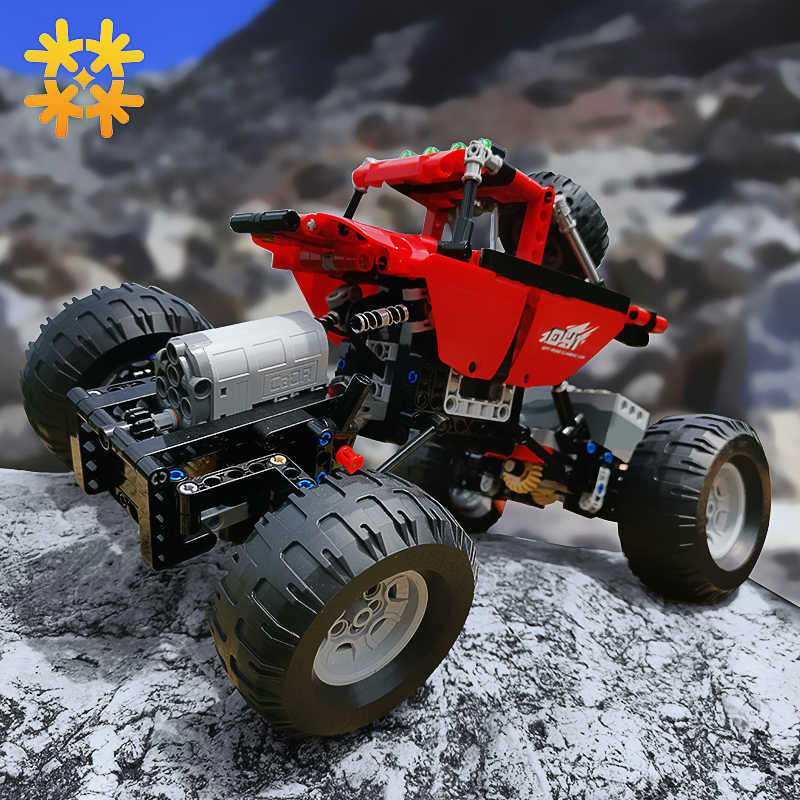 Monsters Bigfoot Camion Technic SUV RC Modello di Auto Building Block di Sport 2.4G Radio Giocattoli di Controllo Per I Bambini Compatibile Con legoED