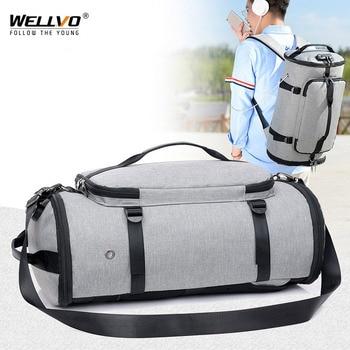 Men Travel Bag Multifunction Duffle Bags Luggage Laptop Backpack USB Charge Weekend Crossbody Bag Anti-theft Rucksack XA103ZC top power anti theft backpack multifunction men usb charge 15 6inch laptop bag waterproof school bags mochila travel backpack