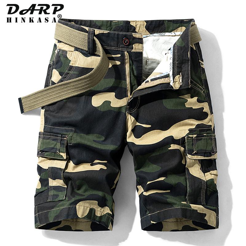 Summer Camouflage Cargo Shorts Men Army Green Jogger Tactical Military Shorts Men Cargo Shorts Cotton Casual Loose Men Shorts