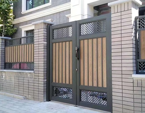 Glorious Automatic Metal Aluminum Sliding Gate With Gate Locks